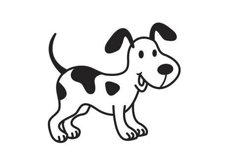 Dibujo para colorear perro   Img 17537