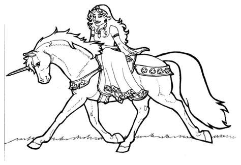 Dibujo para colorear Princesa Shamrock en unicornio ...