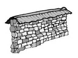 Dibujo Público: 668 Muro de Piedra Techado