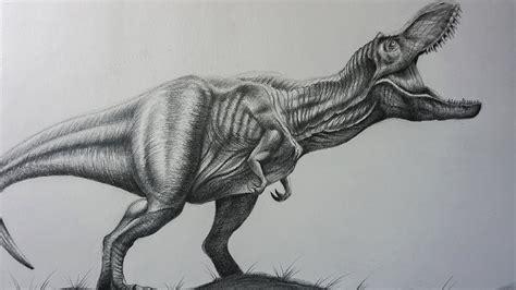Dibujo Realista a Lápiz del T Rex de Jurassic World ...