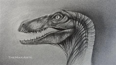Dibujo Realista de un Velociraptor de Jurassic World a ...