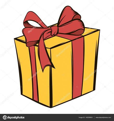 Dibujo regalo rojo | Caja de regalo amarilla con un dibujo ...