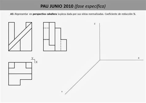 Dibujo Técnico 1º Bach.: PERSPECTIVA CABALLERA