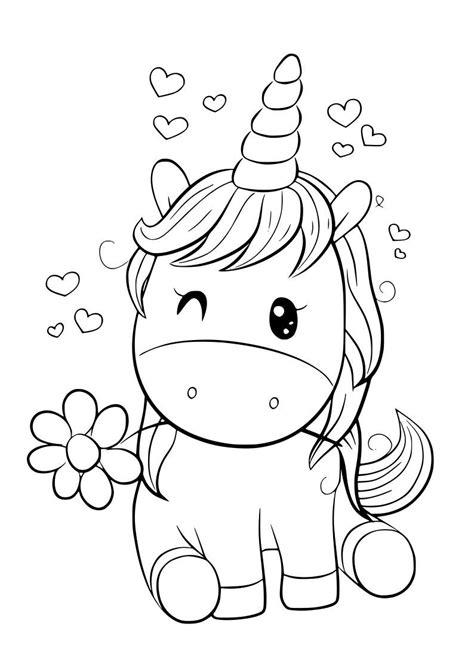 Dibujo unicornio kawaii en 2020 | Unicornio colorear ...