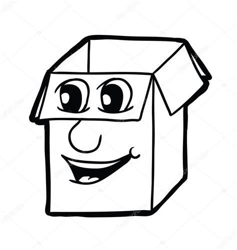 Dibujos animados de caja de cartón — Vector de stock ...