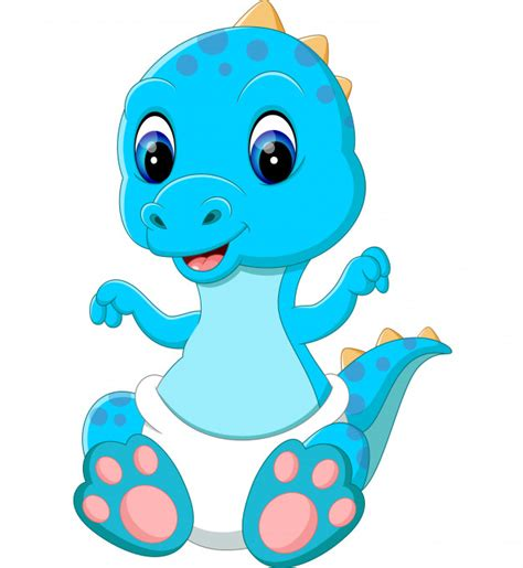 Dibujos animados de dinosaurios bebé | Descargar Vectores ...