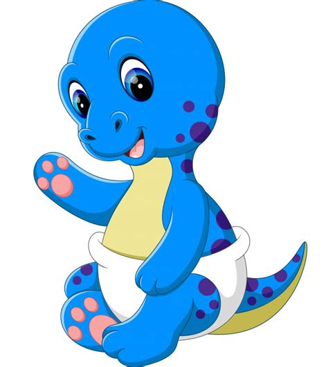 Dibujos animados de dinosaurios bebé   Vector Premium