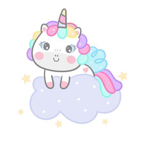 Dibujos animados de unicornio en la nube   Descargar ...