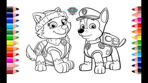 Dibujos Animados Para Colorear Paw Patrol   Impresion gratuita
