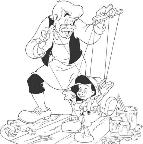 Dibujos animados para colorear: Pinocho para colorear