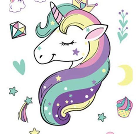 Dibujos Animados Unicornio Animal Tatuaje Pegatinas Lindo ...