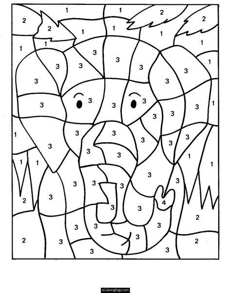 dibujos con numeros para colorear   Numero para colorear ...