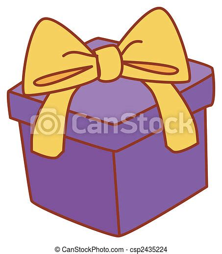 Dibujos de caja, regalo   Ilustración, dibujo, de, Un ...