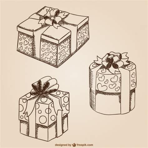 Dibujos de cajas de regalo   Vector Gratis