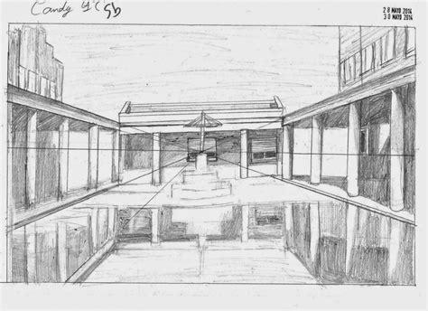 Dibujos de clase: Perspectiva cónica central. Candi Presa ...