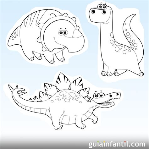 Dibujos de dinosaurios para imprimir y colorear con los niños