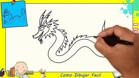 Dibujos de dragones FACILES paso a paso para niños   Como ...