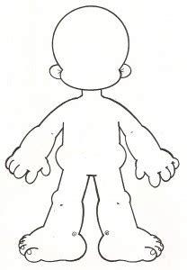 Dibujos de El cuerpo humano para pintar y colorear