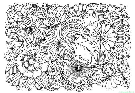 Dibujos de flores para colorear   Web del maestro