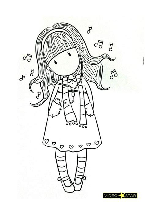 dibujos de gorjuss para colorear | Muñecas Gorjuss para ...