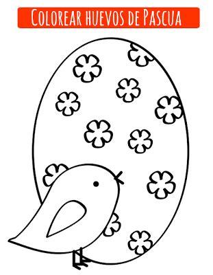 Dibujos de huevo de Pascua para imprimir y colorear ...