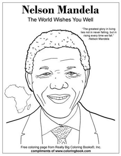 Dibujos de Nelson Mandela para imprimir y pintar ...