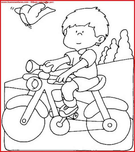Dibujos de niños en bicicleta para colorear | Colorear ...