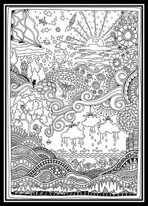 dibujos de paisajes para colorear e imprimir para adultos ...