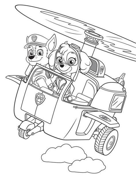 Dibujos de PAW Patrol para colorear. Mighty pups. Imprimir A4