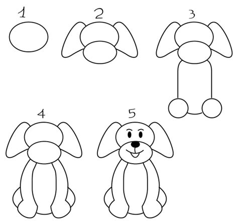 Dibujos de perros   Cómo dibujar un perro fácil   Imágenes ...