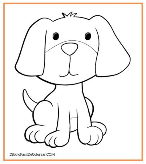 Dibujos de Perros Fácil Para Colorear