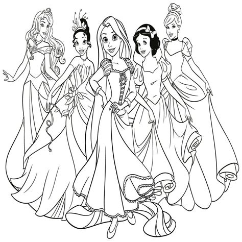 dibujos de princesas disney para colorear e imprimir ...