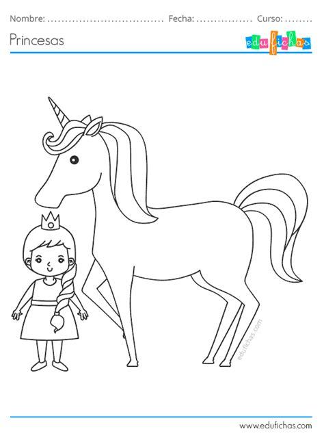 Dibujos de Princesas para Colorear. Imprimir PDF Gratis.
