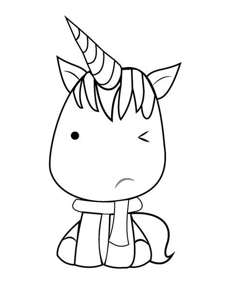 Dibujos de Unicornio Kawaii para Colorear, Pintar e ...