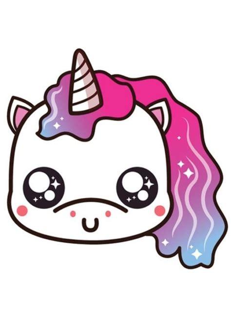 Dibujos de unicornios kawaii para calcar   Fotos de amor ...
