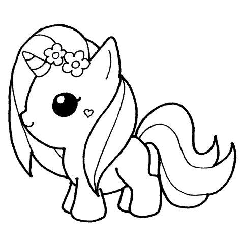 Dibujos de Unicornios para colorear kawaii   Dibujando con ...