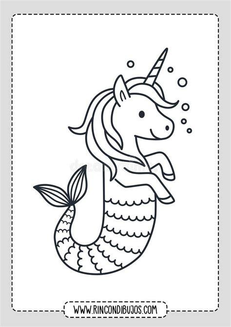Dibujos de Unicornios Para pintar   Rincon Dibujos en 2020 ...