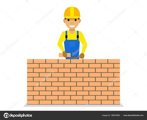 Dibujos: dibujo muro de ladrillo | Albañil de dibujos ...