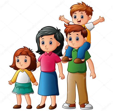 Dibujos: familias rezando | dibujos animados familia feliz ...