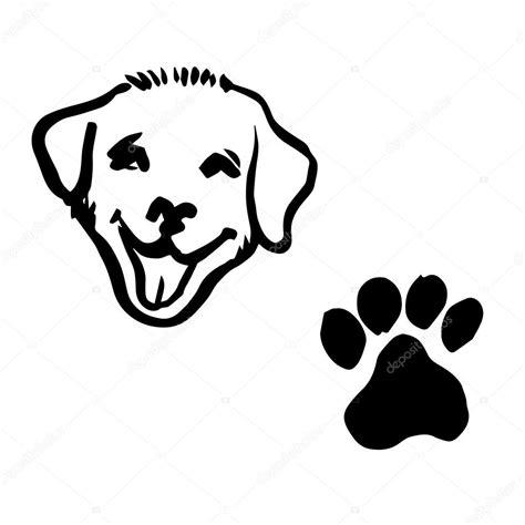 Dibujos: huellita de perro | Ilustración de dibujo a mano ...
