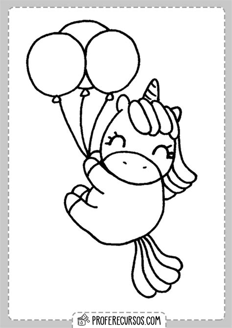 Dibujos Kawaii Colorear Unicornios   Profe Recursos