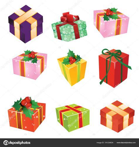 Dibujos: navidad a color | Regalos de Navidad, cajas con ...