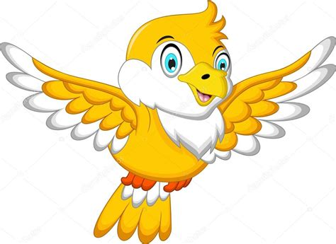 Dibujos: pájaros volando   Caricatura lindo pájaro ...
