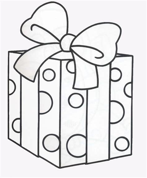 Dibujos para colorear: Caja de regalo