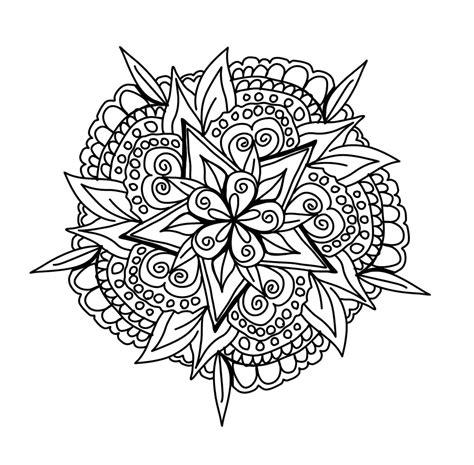 Dibujos para Colorear de Mandalas de Flores – Colorear Dibujos