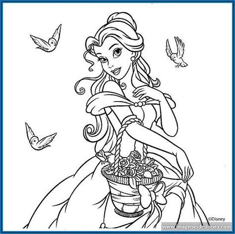 dibujos para colorear de princesas disney para imprimir ...