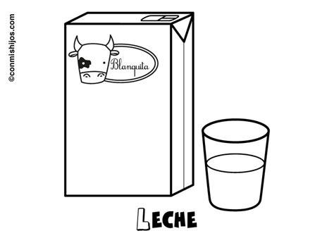 Dibujos para colorear de una caja de leche   Imagui