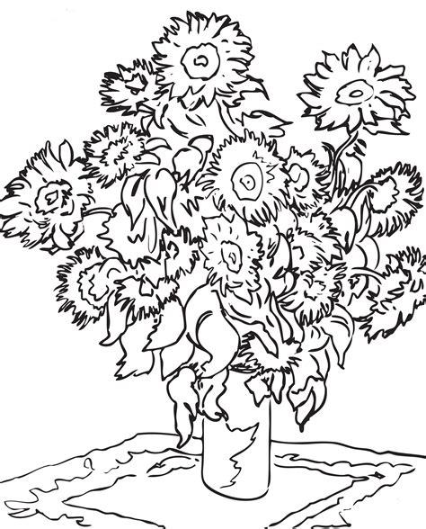 Dibujos Para Colorear De Vincent Van Gogh