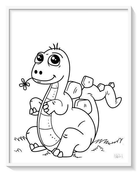 dibujos para colorear dinosaurios online  Biblioteca de ...