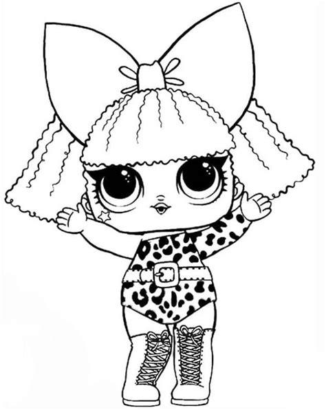 Dibujos para colorear Muñecas LOL. Imprimir en formato A4